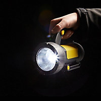 Diall Black & yellow Plastic 190lm LED Torch