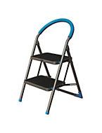 Mac Allister 2 tread Steel & plastic Step stool, 0.85m