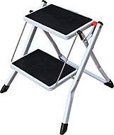 2 tread Powder coated steel & plastic parts Step stool, 0.44m