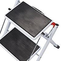 2 tread Plastic & steel Foldable Step stool (H)0.44m