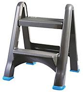 Mac Allister 2 tread Plastic Step stool, 0.63m