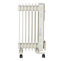 Electric 1500W Cream beige Oil-filled radiator