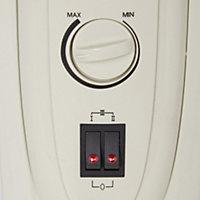 Electric 1500W Beige Oil-filled radiator