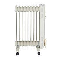 Electric 2000W Cream beige Oil-filled radiator