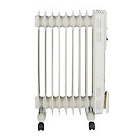 Electric 2000W Off-white Oil-filled radiator