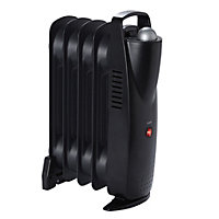 Electric 500W Rich black Oil-filled radiator