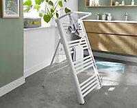 Blyss 500W Electric White Towel warmer (H)1030mm (W)450mm