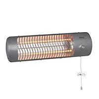 Electric 1200W Grey Quartz heater