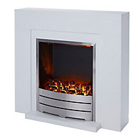 Blyss Beccles White Electric Fire Suite