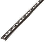 Diall Champagne Aluminium Round External edge tile trim, 6mm