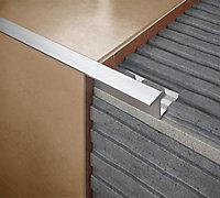 Diall Aluminium Straight Tiling trim, 10mm