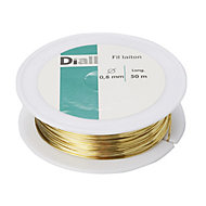 Diall Brass Brass wire 0.8mm x 50m