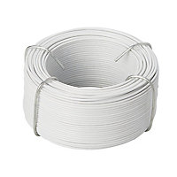 Diall White PVC & steel Wire, (L)50m (Dia)1.4mm