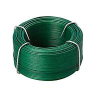 Diall Green PVC & steel Wire, (L)50m (Dia)0.8mm