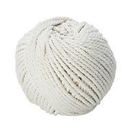 Diall White Cotton Twine, (L)3m (Dia)2.5mm