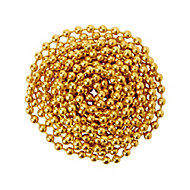 Diall Brass-plated Steel Bead Chain, (L)2.5 (Dia)3mm
