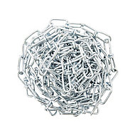 Diall Zinc-plated Steel Knotted Signalling Chain, (L)0.75 (Dia)10mm