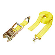 Diall Yellow Ratchet tie down & hook (L)6000mm
