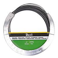 Diall Black Steel Piano wire, (L)19m (Dia)0.8mm
