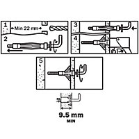 Diall Steel Hollow wall anchor (L)33mm, Pack of 4