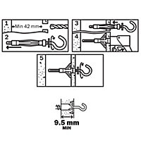 Diall Steel Hollow wall anchor (L)52mm, Pack of 4