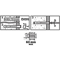 Diall Countersunk Frame fixing (L)120mm (Dia)8mm, Pack of 6