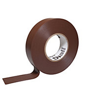 Diall Brown Electrical tape (L)33m (W)19mm