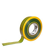 Diall Green & yellow Electrical tape (L)33m (W)19mm