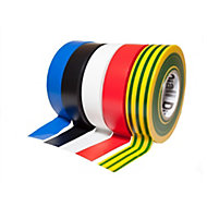 Diall Multicolour Electrical tape (L)33m (W)19mm, Pack of 5