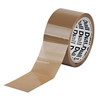 Diall Brown Packaging tape & dispenser (L)50m (W)50mm