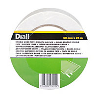 Diall White Double sided tape (L)25m (W)50mm