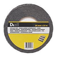 Diall Black Anti-slip tape (L)15m (W)25mm