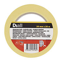 Diall Yellow Masking Tape (L)25m (W)25mm