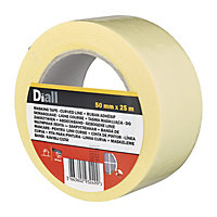 Diall Yellow Masking Tape (L)25m (W)50mm