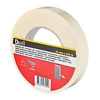 Diall Beige Masking tape (L)100m (W)24mm