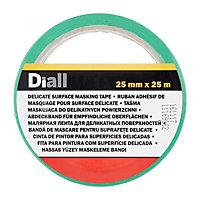 Diall Green Masking tape (L)25m (W)25mm