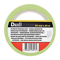 Diall Green Masking Tape (L)2.5m (W)50mm