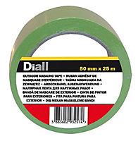Diall Green Masking tape (L)25m (W)50mm