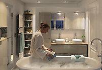 GoodHome Imandra Gloss Taupe Vanity & basin Cabinet (W)1200mm (H)600mm