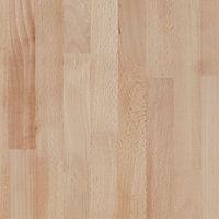 27mm GoodHome Hartland Natural Round edge Solid oak Bathroom worktop (L)1.8m