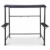 Blooma Coburg Grey Rectangular Gazebo, (W)2.47m (D)1.43m