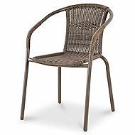 Bari Brown Metal Armchair