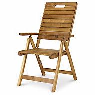 Denia Wooden Folding recliner armchair