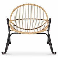 Cuba Cream Wooden Rocking Chair