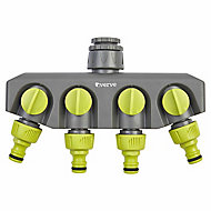 Verve Green & grey 4-way hose pipe connector (W)560mm