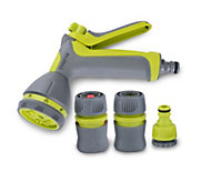 Verve Green & grey Spray gun & hose fittings set