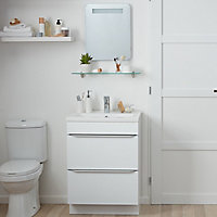 Cooke & Lewis Colwell Rectangular Illuminated Frameless Bathroom mirror (H)500mm (W)400mm