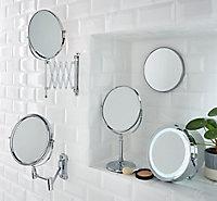 Cooke & Lewis Harlech Round Bathroom Mirror (H)345mm (W)225mm