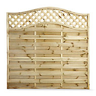 Blooma Mokcha Decorative Fence panel (W)1.8m (H)1.8m