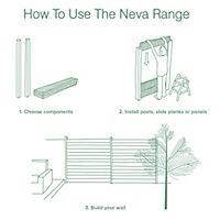 Blooma Neva Steel Concrete-in post base (W)70mm